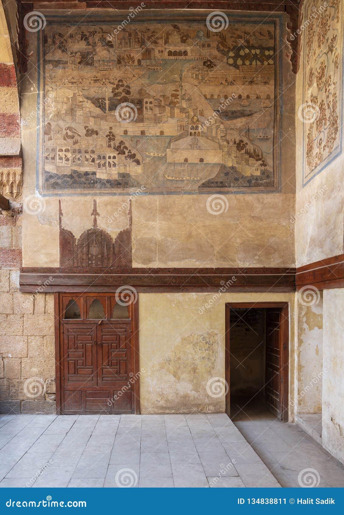 Mur En Pierre Décoré De La Ville De Representation Murale D