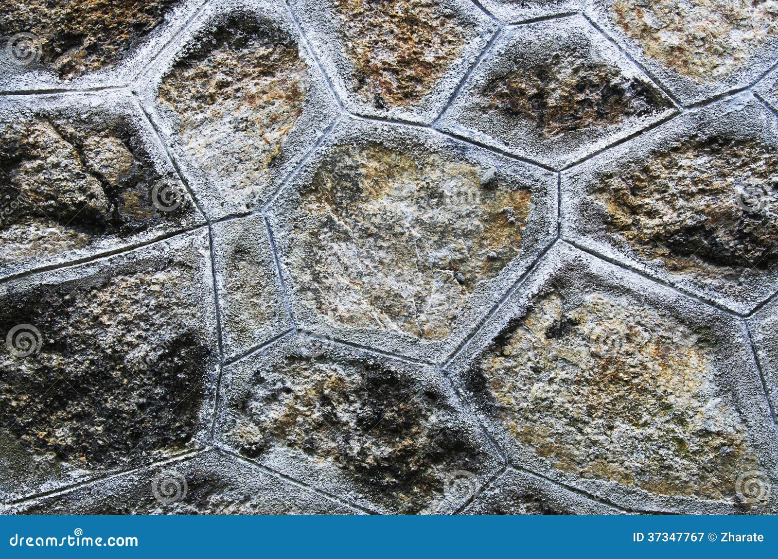 Mur en pierre de brique