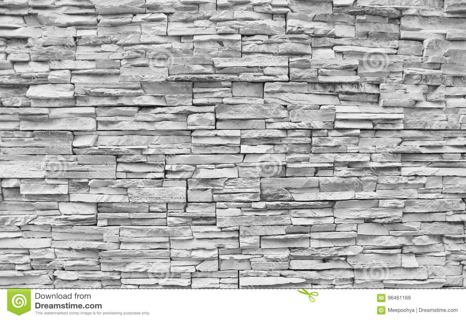 mur en pierre de brique blanche image stock image du concret cass 96461169. Black Bedroom Furniture Sets. Home Design Ideas