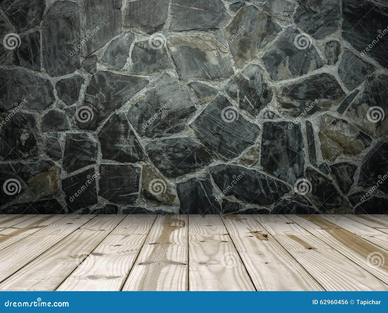 mur en pierre et plancher en bois photo stock image 62960456. Black Bedroom Furniture Sets. Home Design Ideas