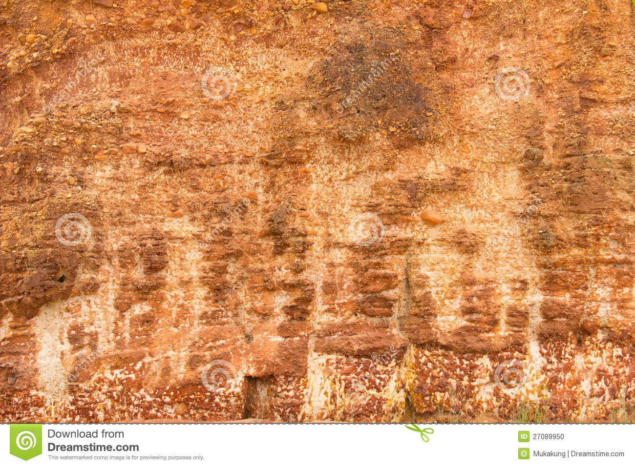 Mur en pierre rouge photo stock image 27089950 - Mur rouge ...