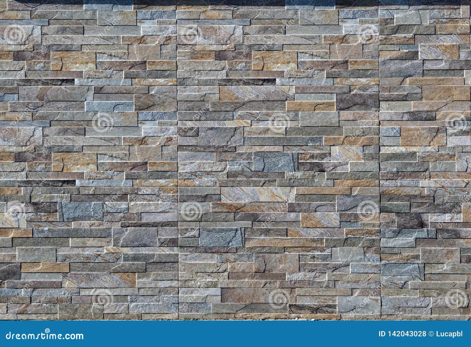 Revetement Mur Exterieur Pierre mur extérieur fait de panneautage de grès avec l'effet en