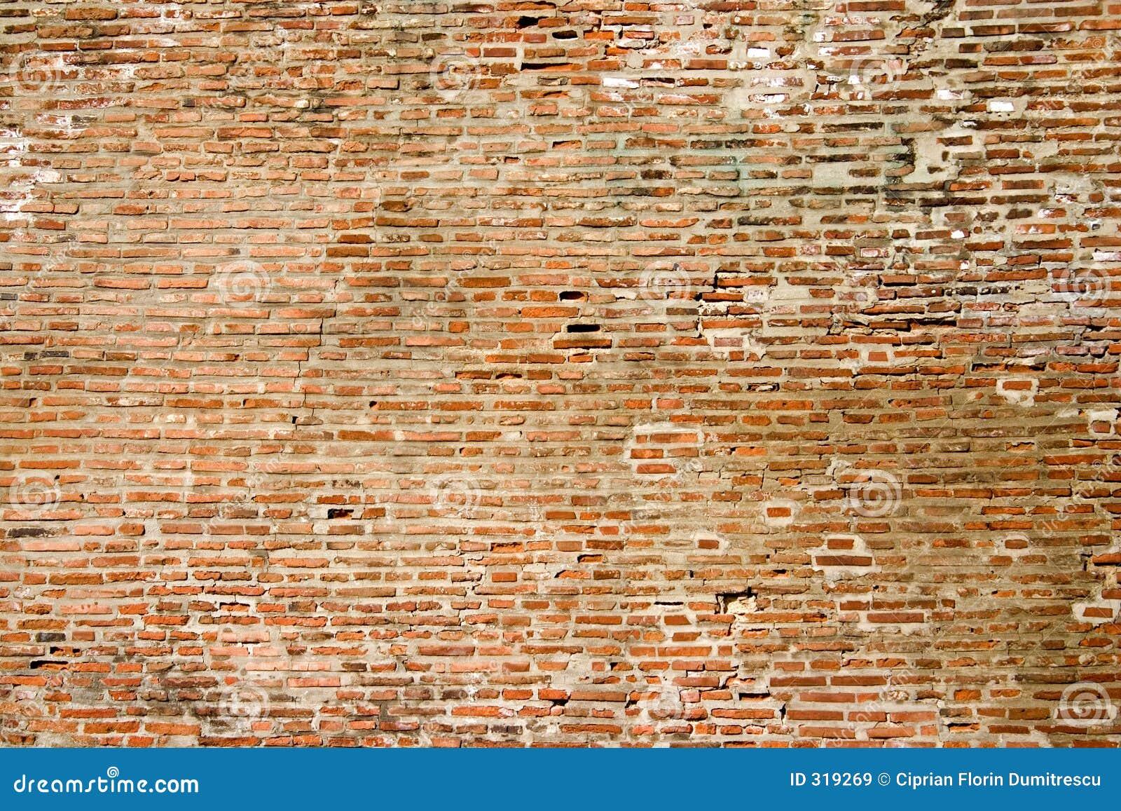 Mur fait en vieille brique images libres de droits image for Construire mur en brique