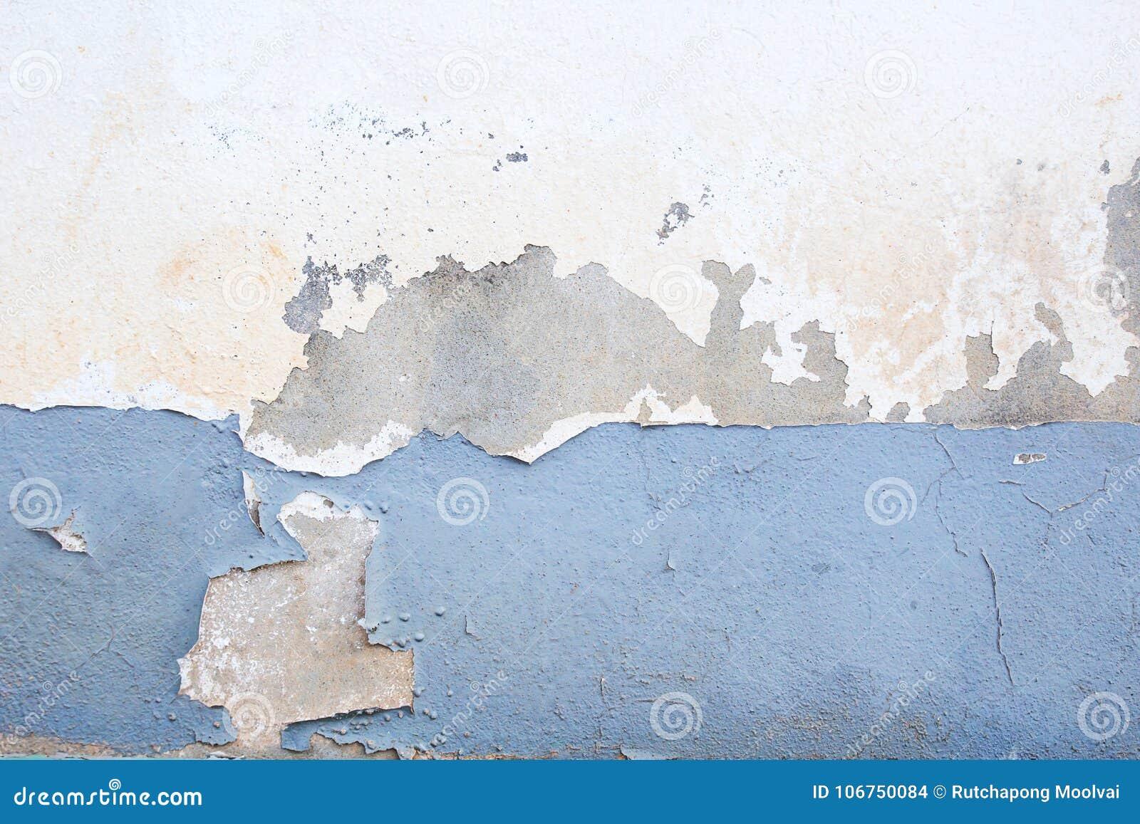 Mur Foncé De Plâtre Avec Le Fond Blanc Sale Photo Stock