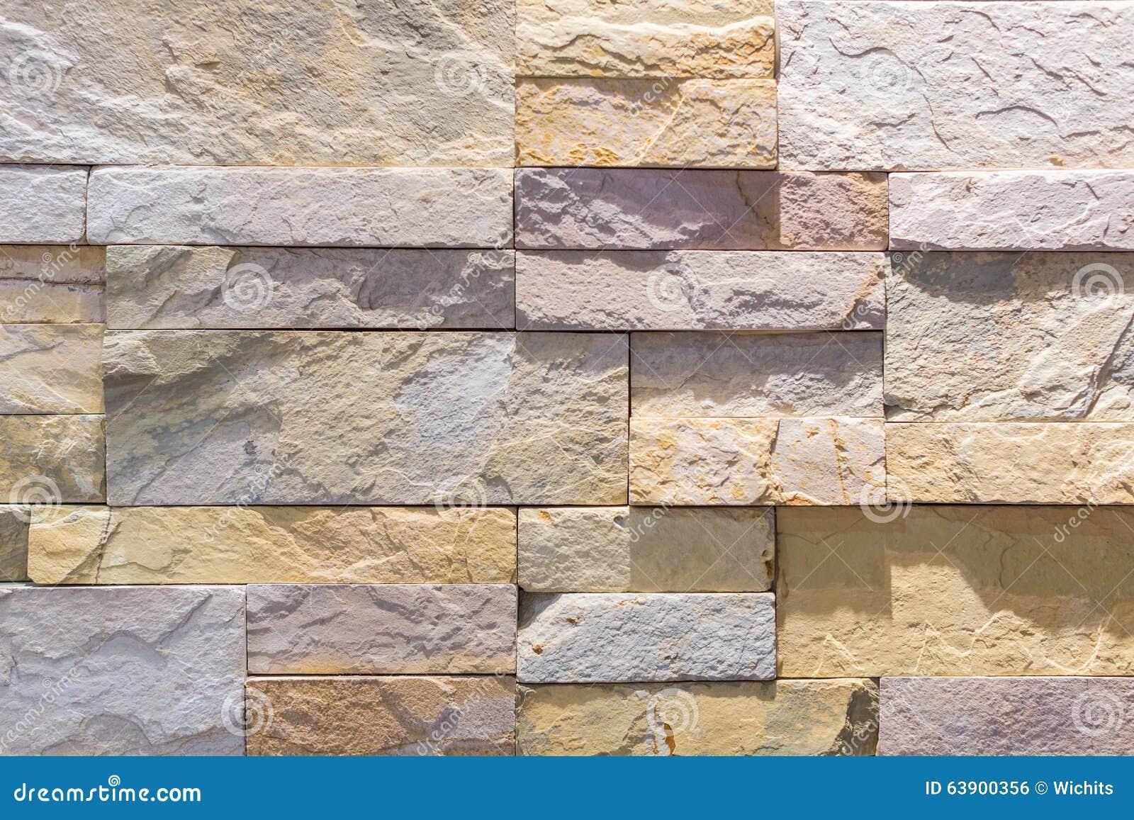 Mur En Pierre Interieur Beige mur intérieur fait par les tuiles en pierre photo stock