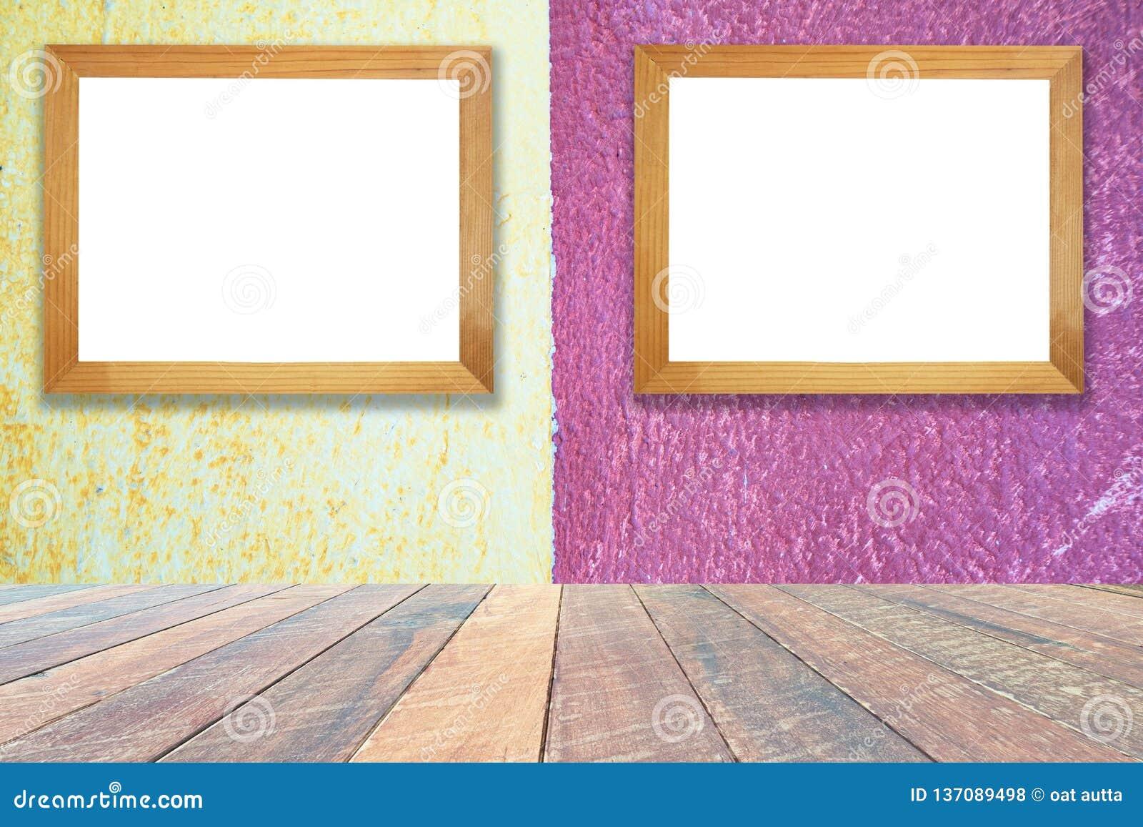Mur Jaune Et Rose De Ciment De Peinture Fond De Texturedâ