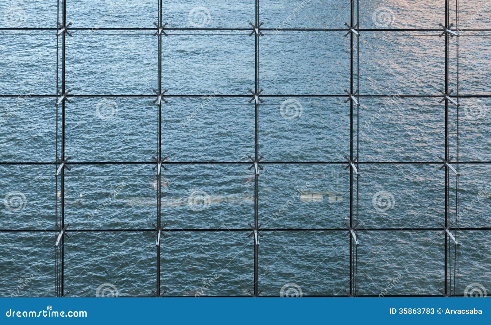 mur rideau image stock image du bureau structure commercial 35863783. Black Bedroom Furniture Sets. Home Design Ideas