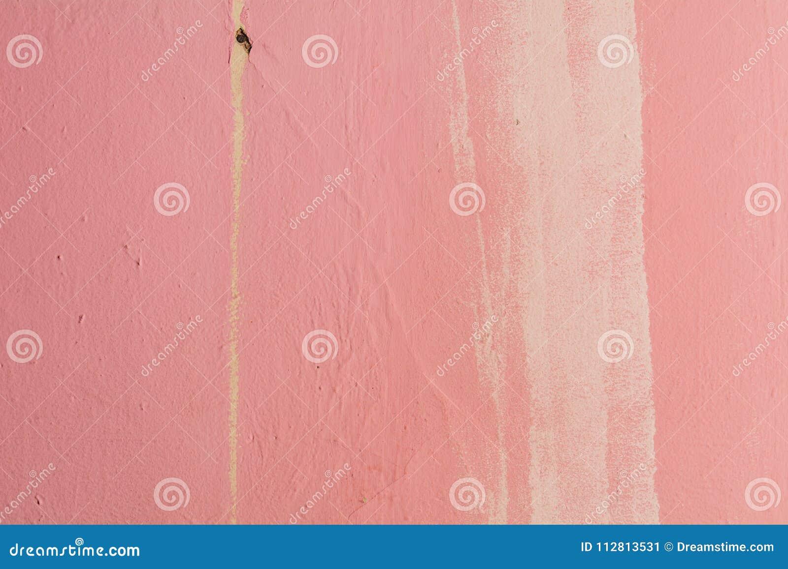 Mur Rose Avec La Calomnie Blanche Du Côté Droit Image Stock