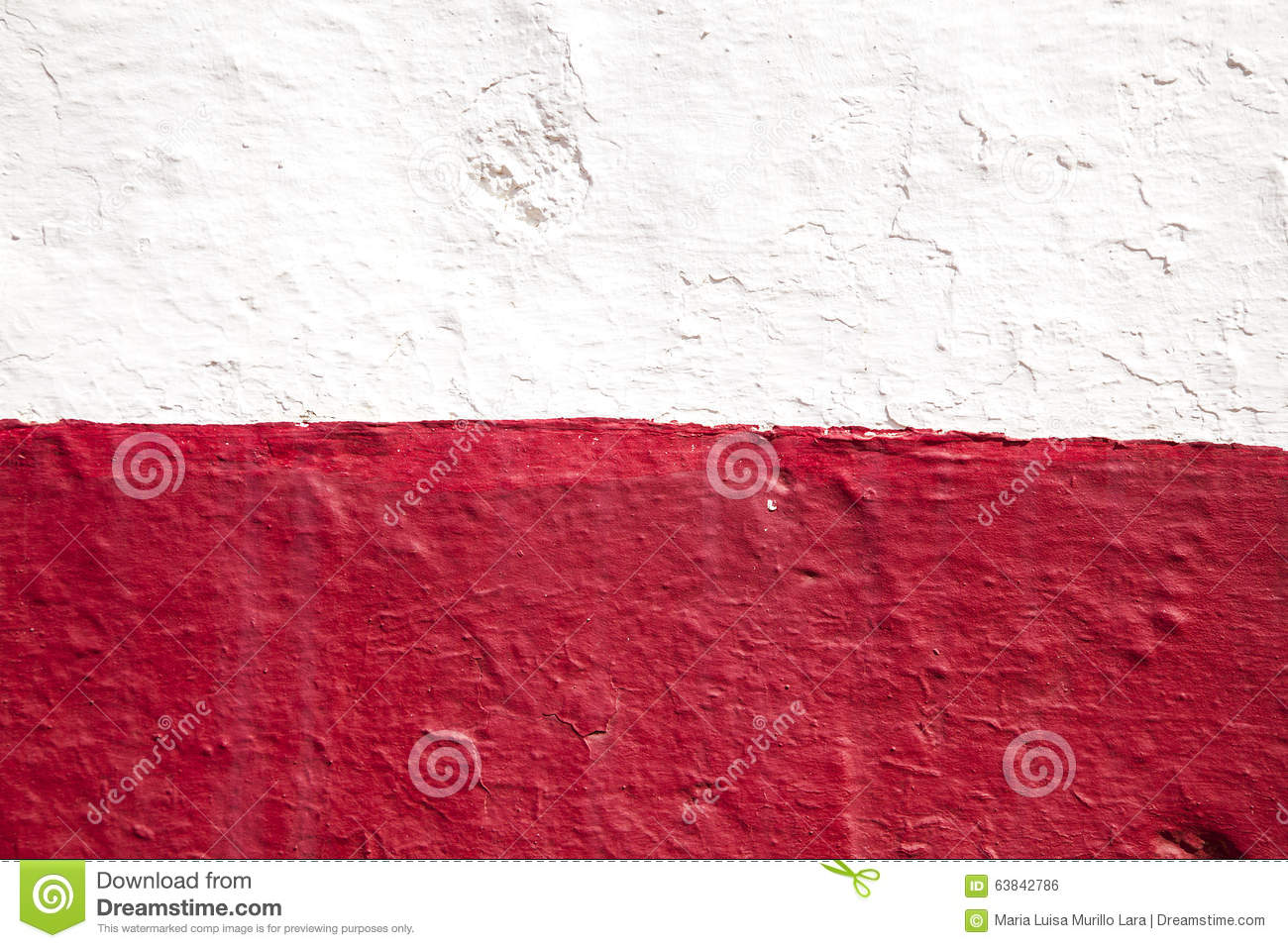 Mur rouge et blanc photo stock image 63842786 - Mur rouge ...