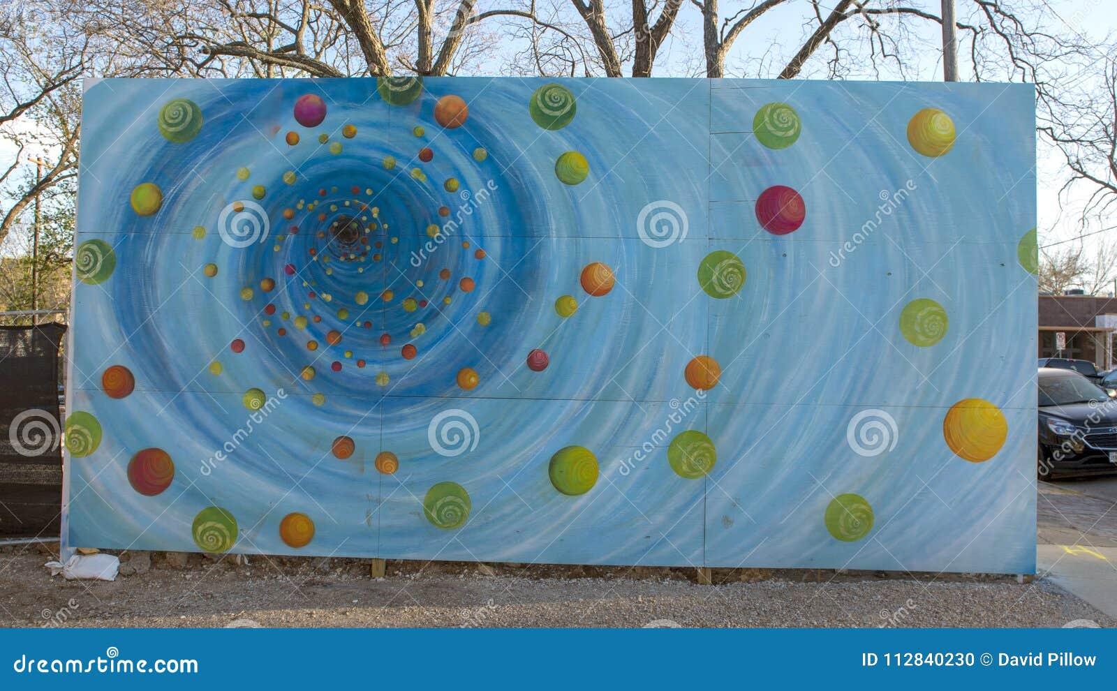 Mural περιοχή τεχνών επισκόπων μαύρων τρυπών, Ντάλλας, Τέξας