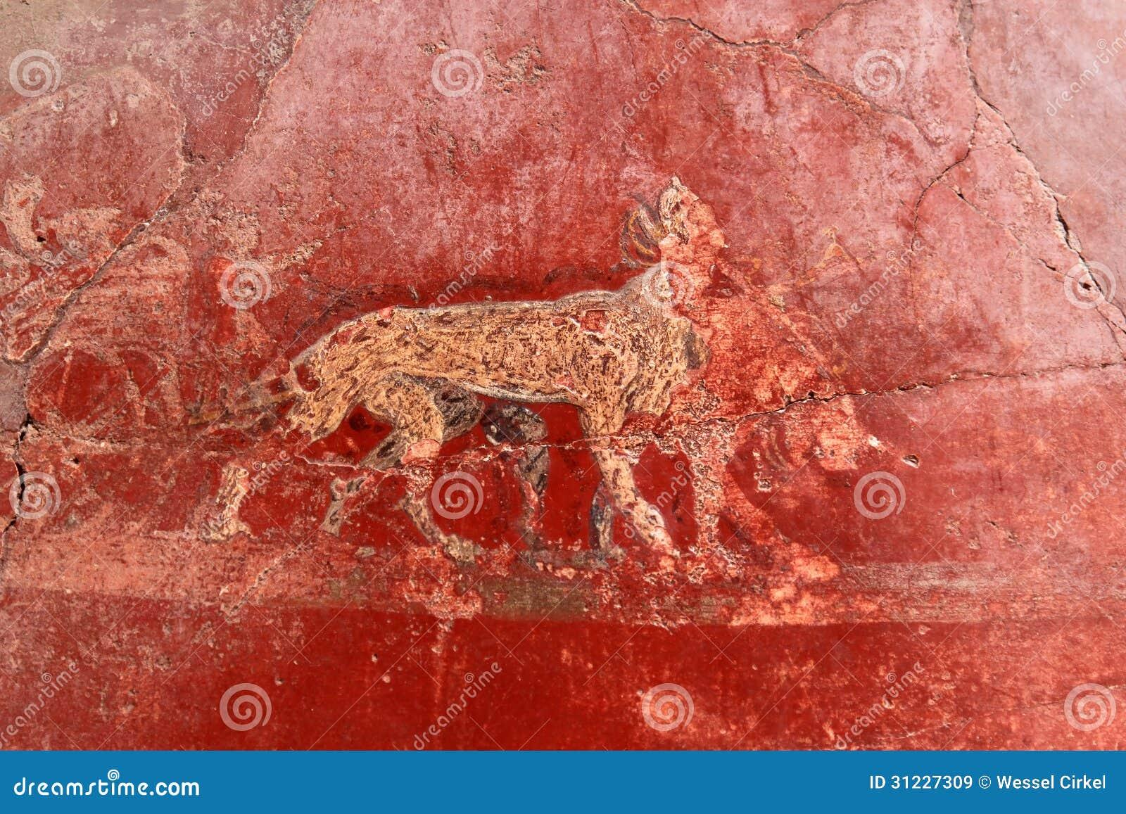 mural of animals in roman pompeii italy royalty free stock images mural of animals in roman pompeii italy royalty free stock images