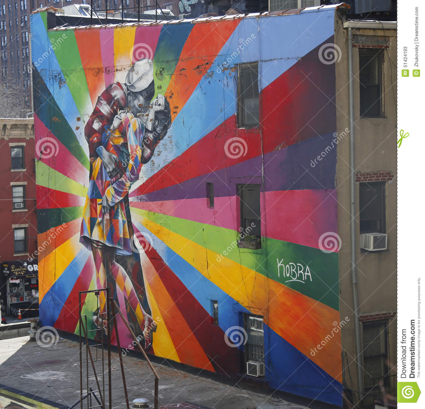 Mural art by brazilian mural artist eduardo kobra in for Mural eduardo kobra