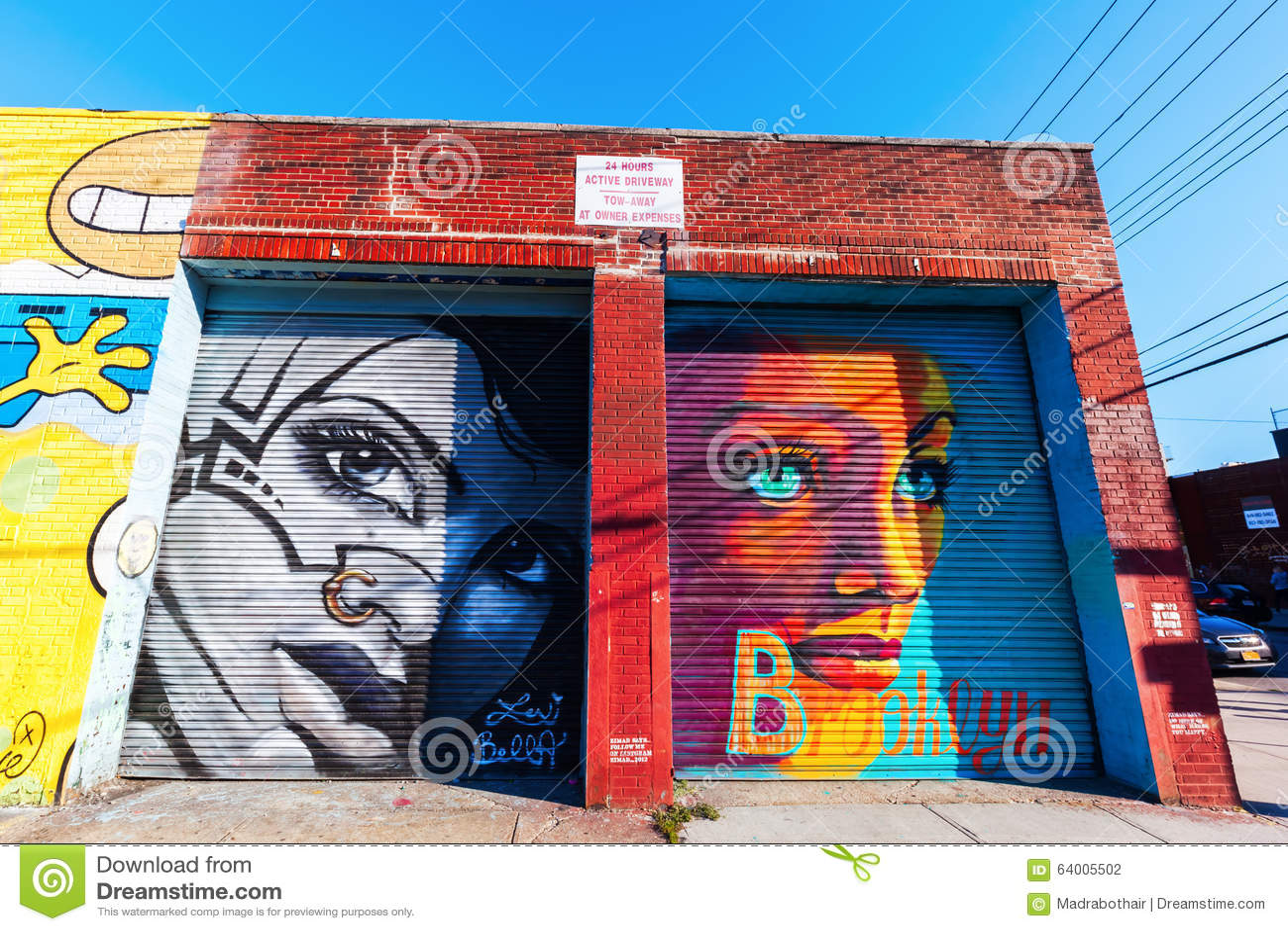Mural Art In Bushwick, Brooklyn, NYC Editorial Photography - Image