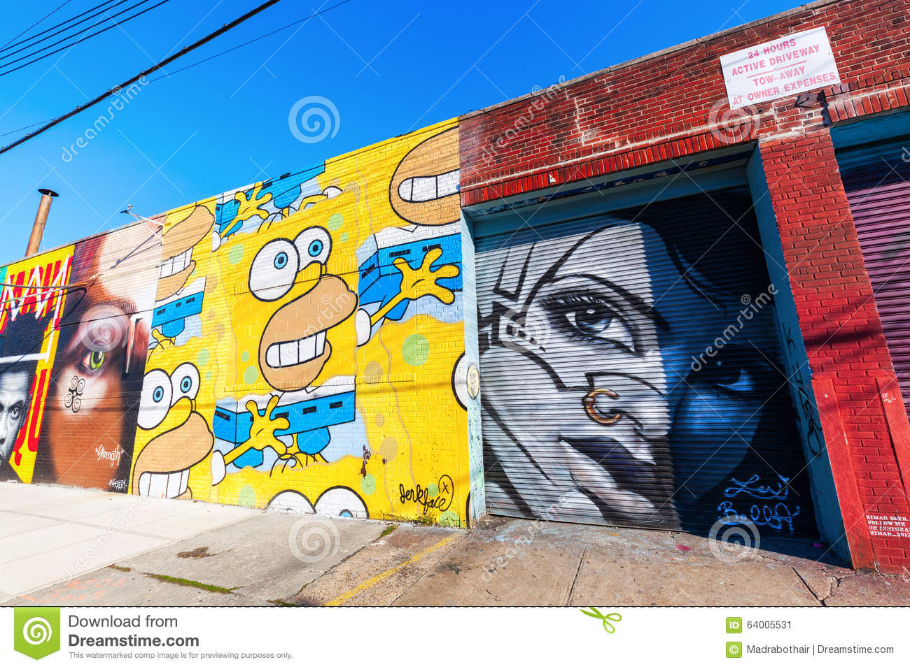 Mural Art In Bushwick, Brooklyn, NYC Editorial Photo - Image of