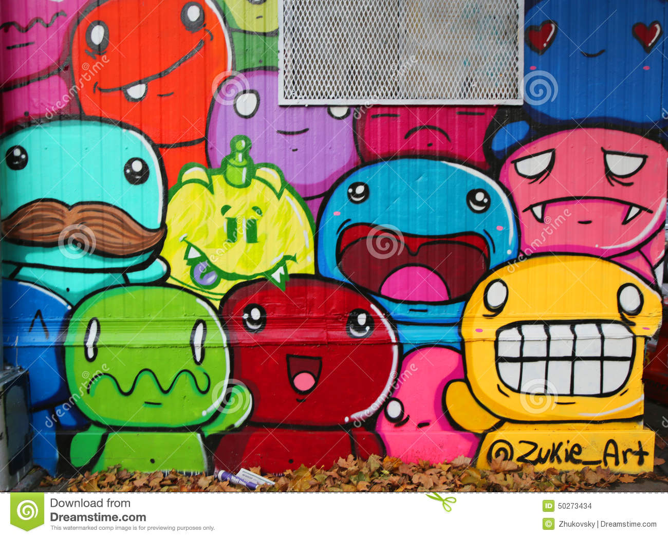 Mural Art At Houston Avenue In Soho Editorial Stock Image