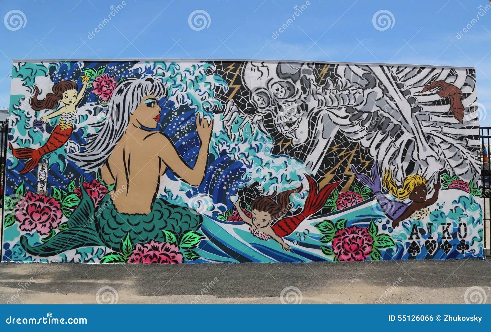 Art Walls mural art at new street art attraction coney art walls at coney