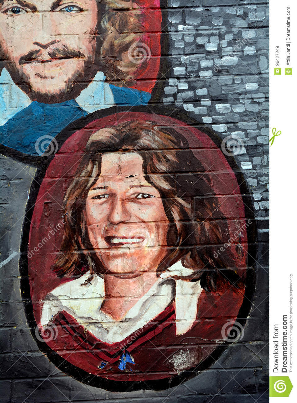 Mural with Bobby Sands, Belfast, Northern Ireland