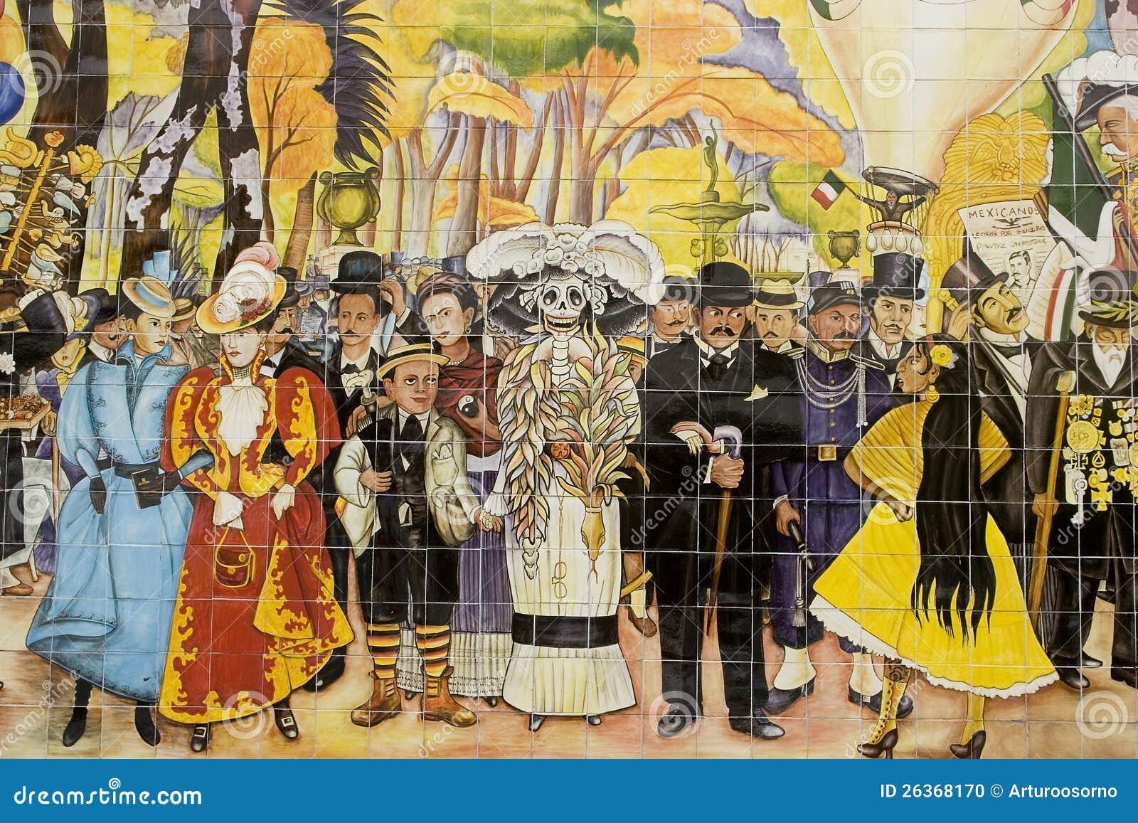 Mural de diego rivera imagen editorial imagen 26368170 for Mural de rivera