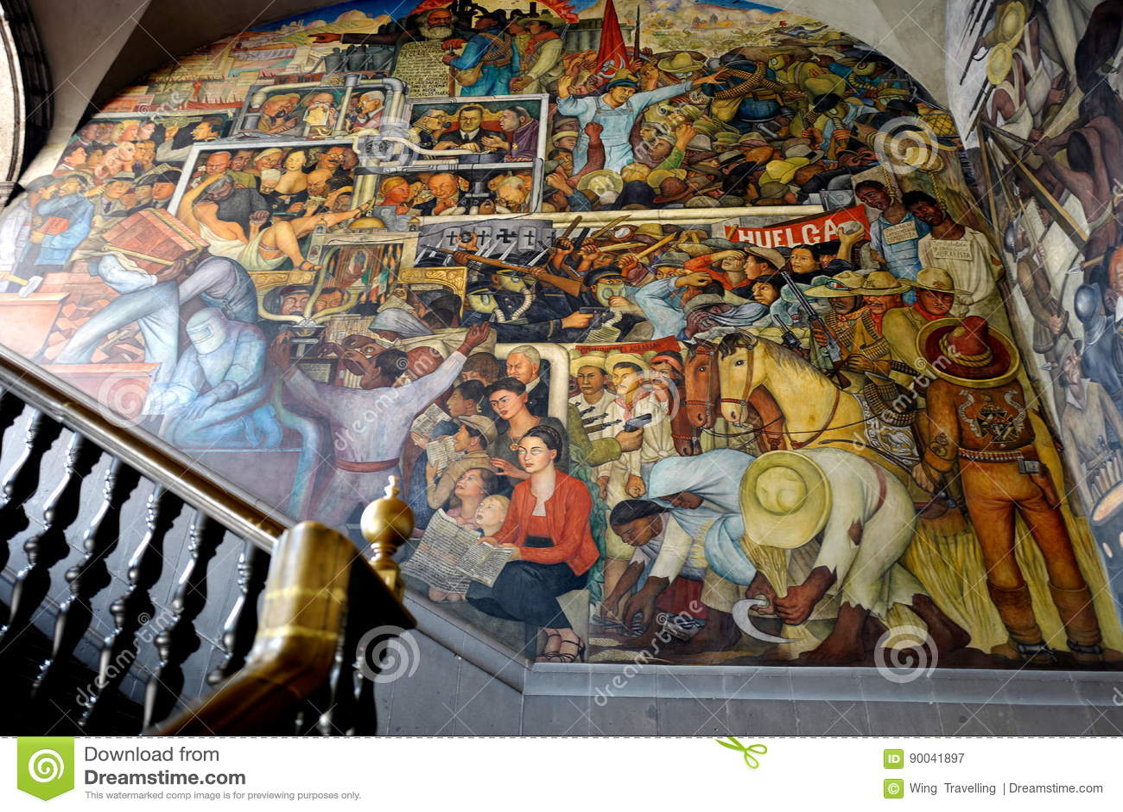 Mural De Diego Rivera Mexico Fotografia Editorial Imagen De