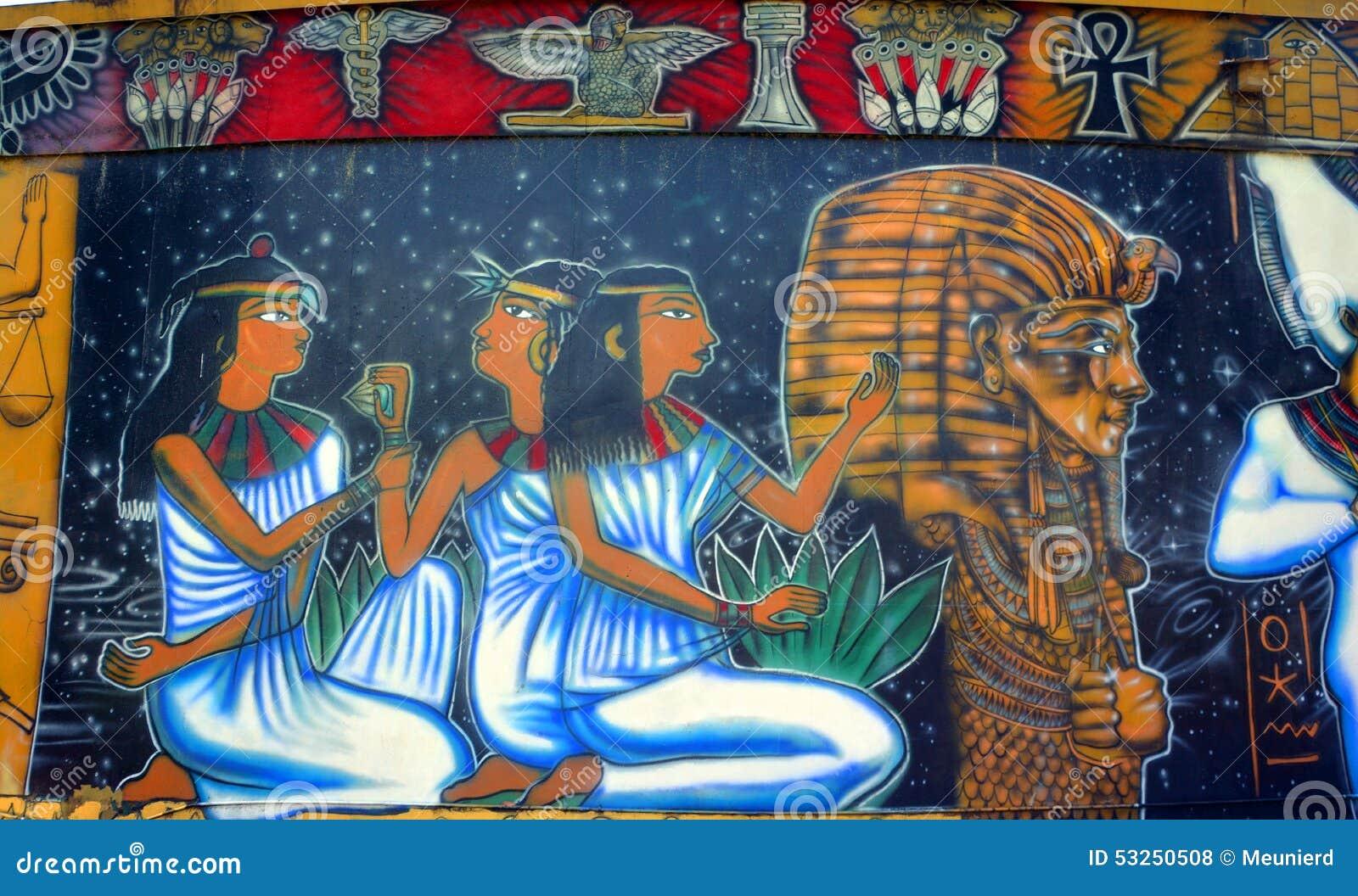 Mural De Dioses Egipcios Foto De Archivo Editorial Imagen De Anubis
