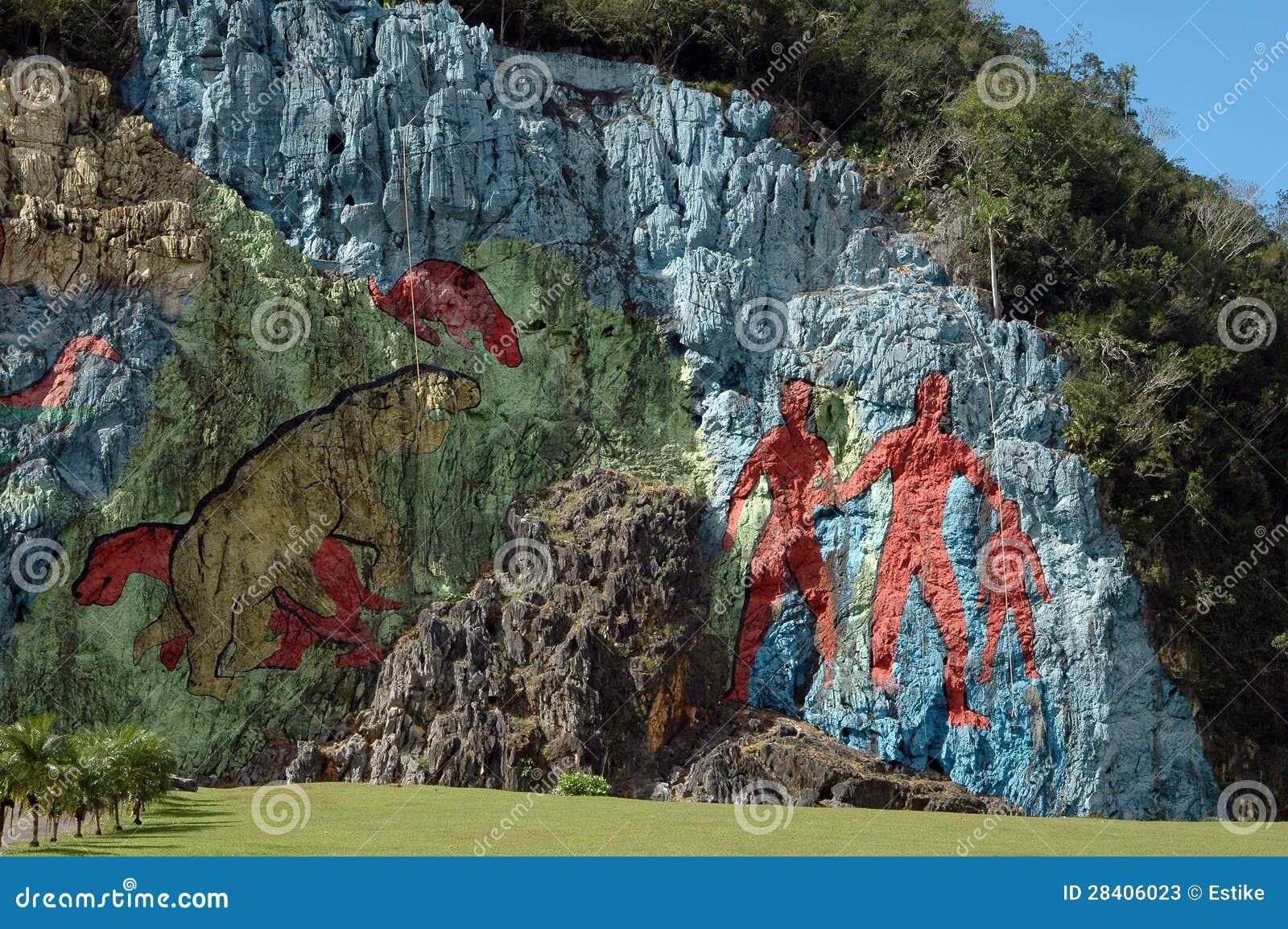 Mural de la prehistoria stock photos image 28406023 for Mural de la prehistoria