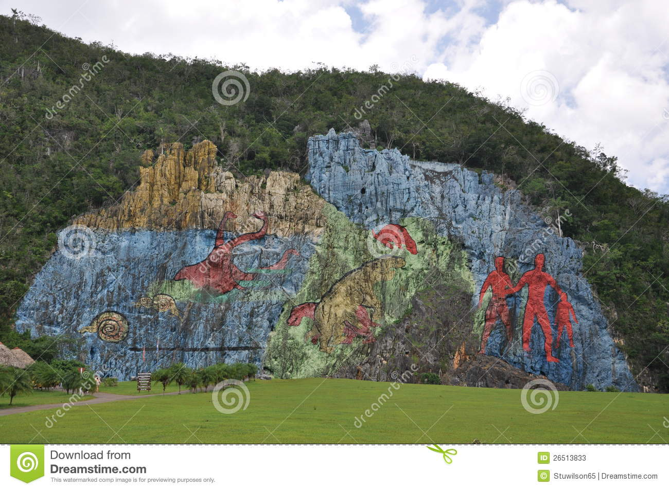 The mural de la prehistoria vinales cuba editorial stock for Mural de la prehistoria cuba