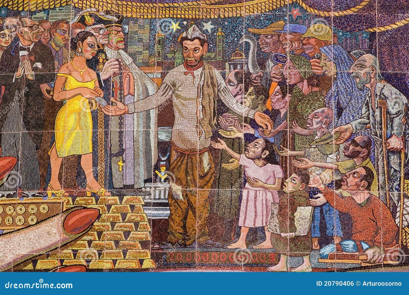 Mural by diego rivera editorial photo image of rivera for Un mural de diego rivera