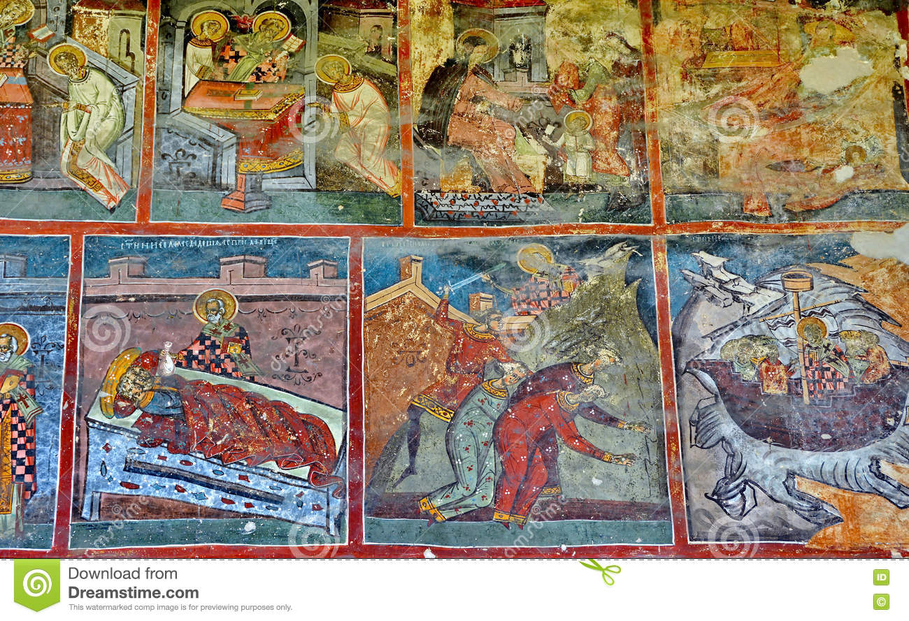 Mural fresco at humor monastery stock photo image 73599289 for Clarks mural fresco