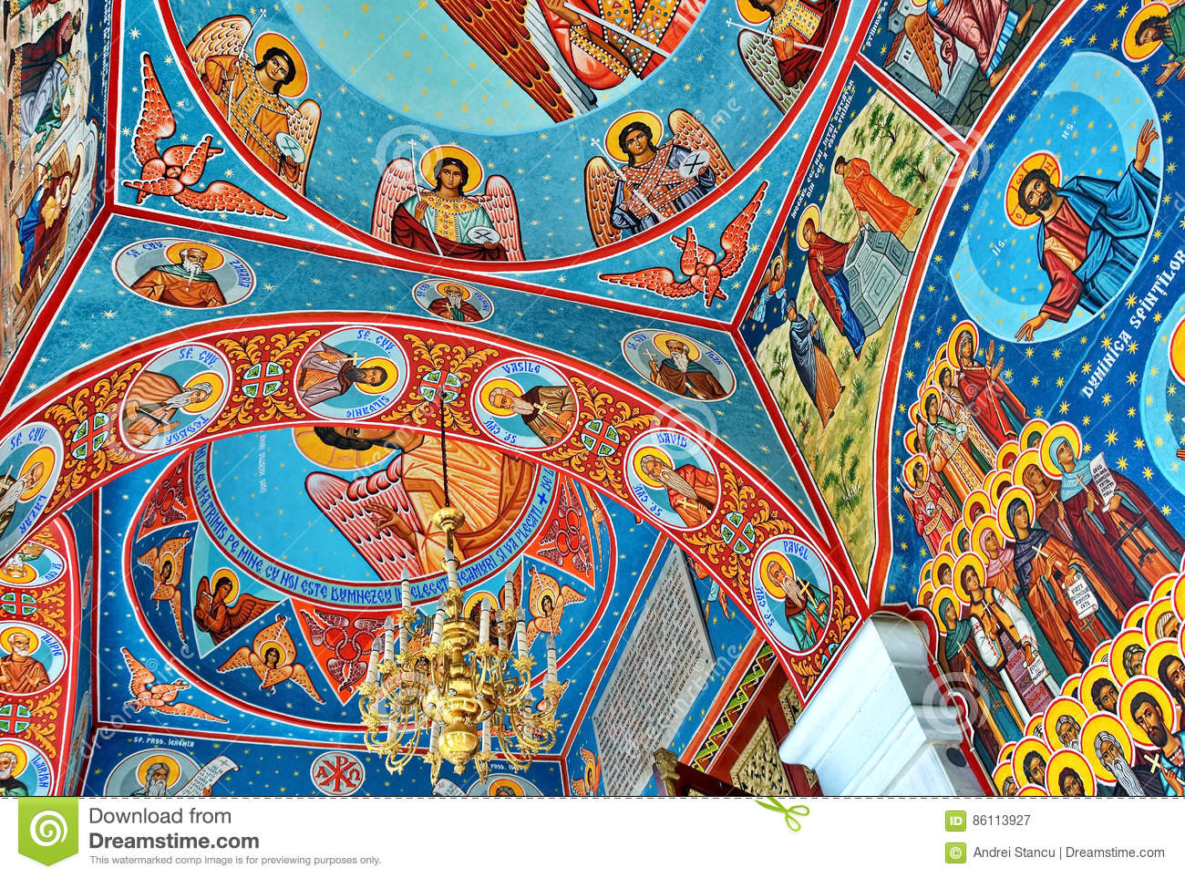 Mural fresco in romania stock photo for Clarks mural fresco