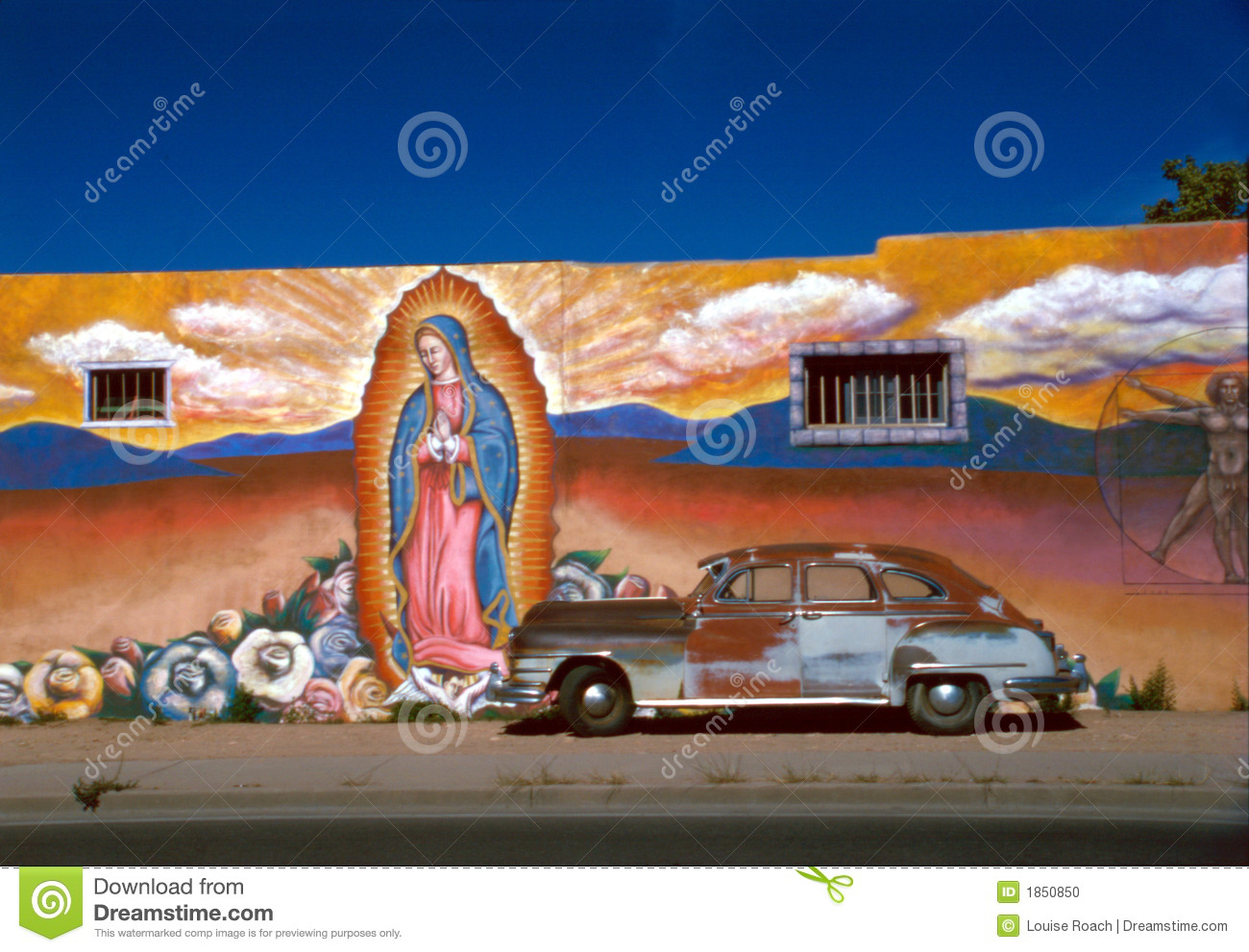Mural with Old Car