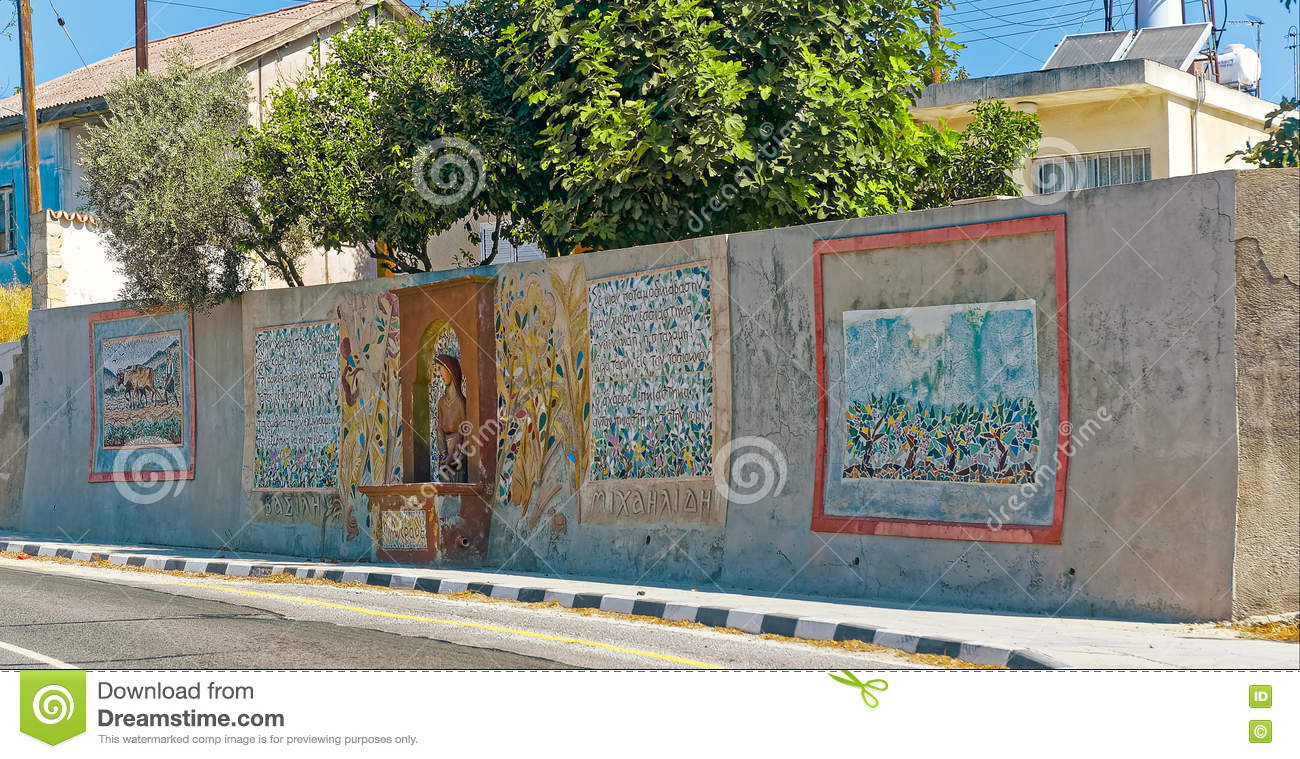 Mural painted on the wall editorial stock image  Image of