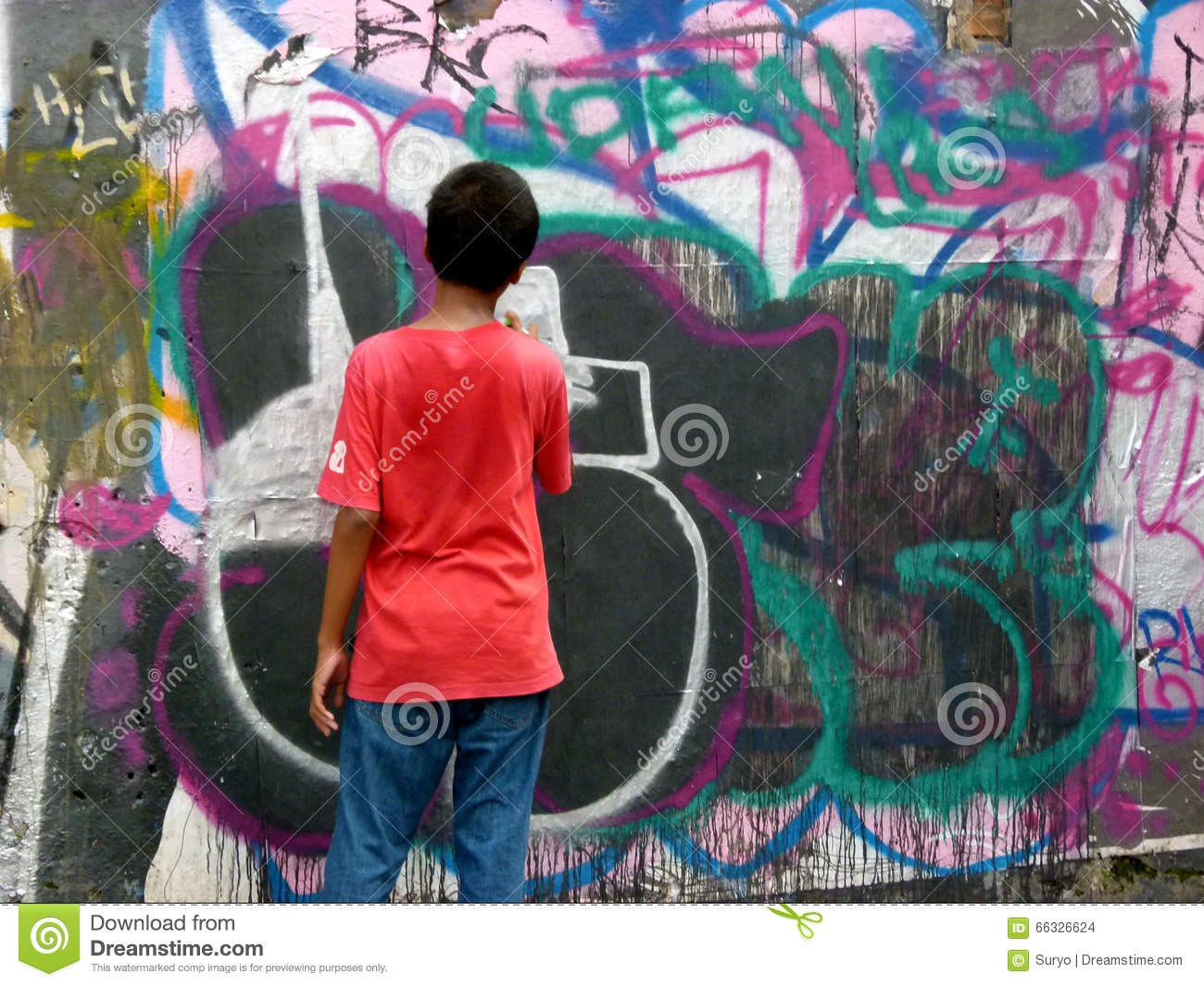 Mural editorial stock image image 66326624 for Mural indonesia