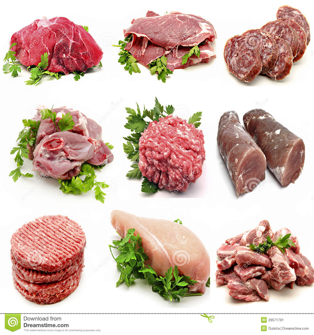 Mural various meats stock image image 29571791 for Mural nuestra carne