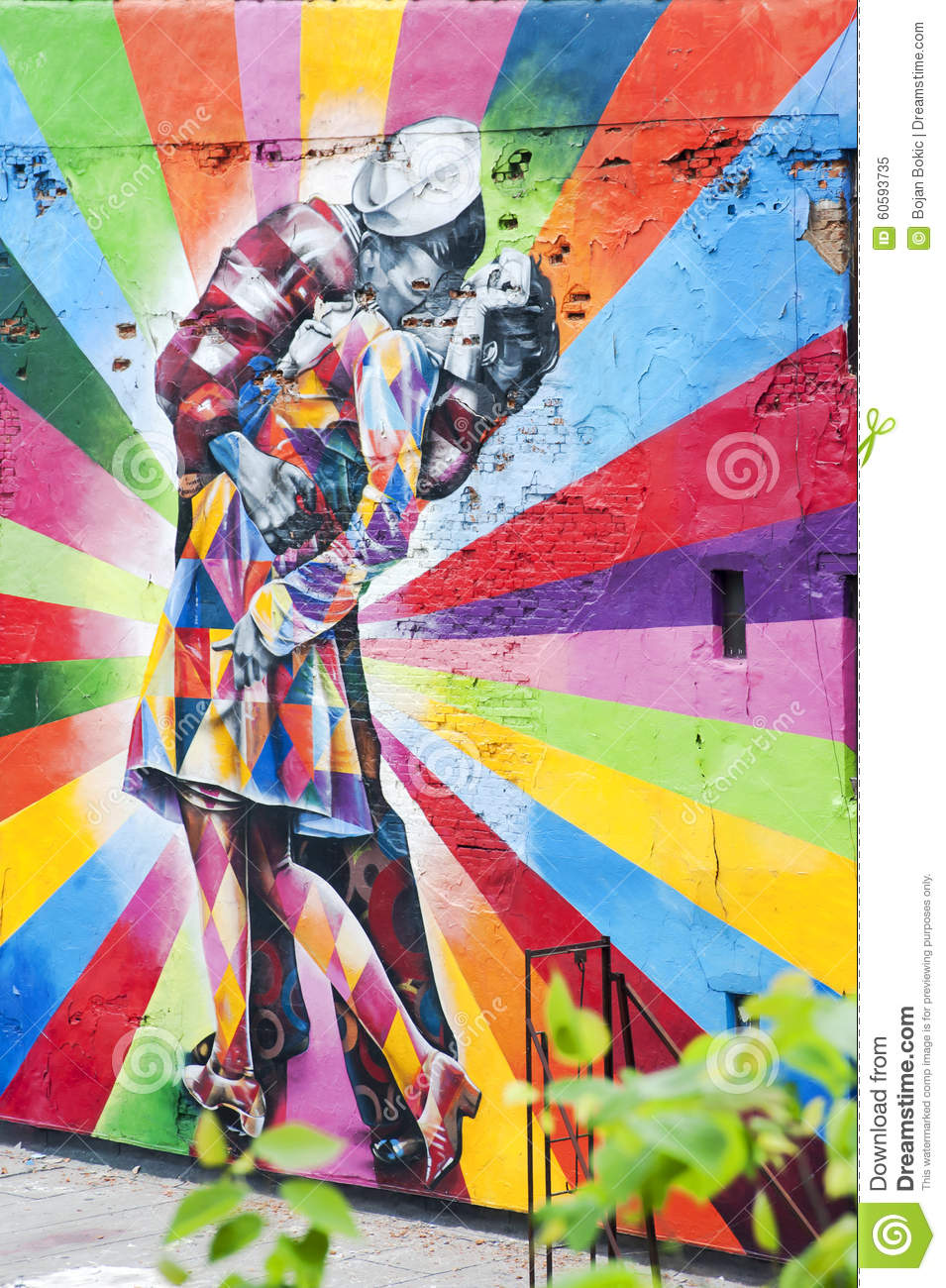 Foto Murales New York.A Mural On The Wall In New York Ny Editorial Image Image