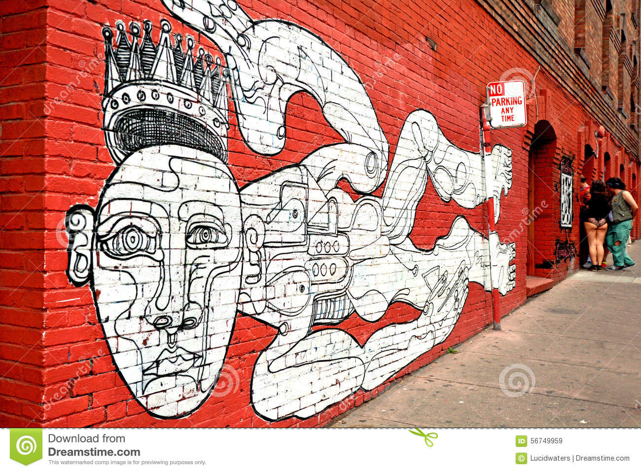 Mural wall paint in san francisco california editorial for Airbrush mural painting