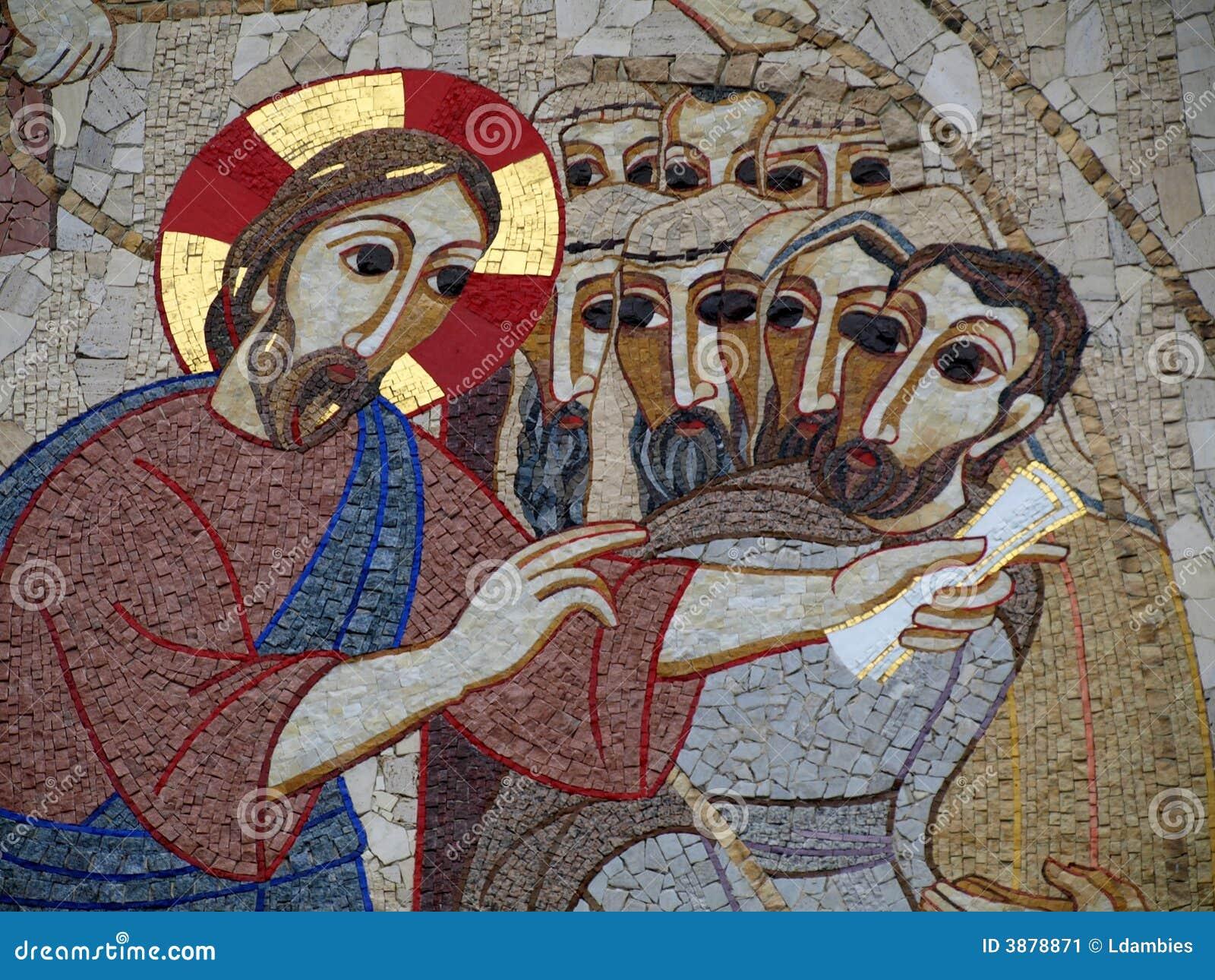 Murale cattolico dell illustrazione