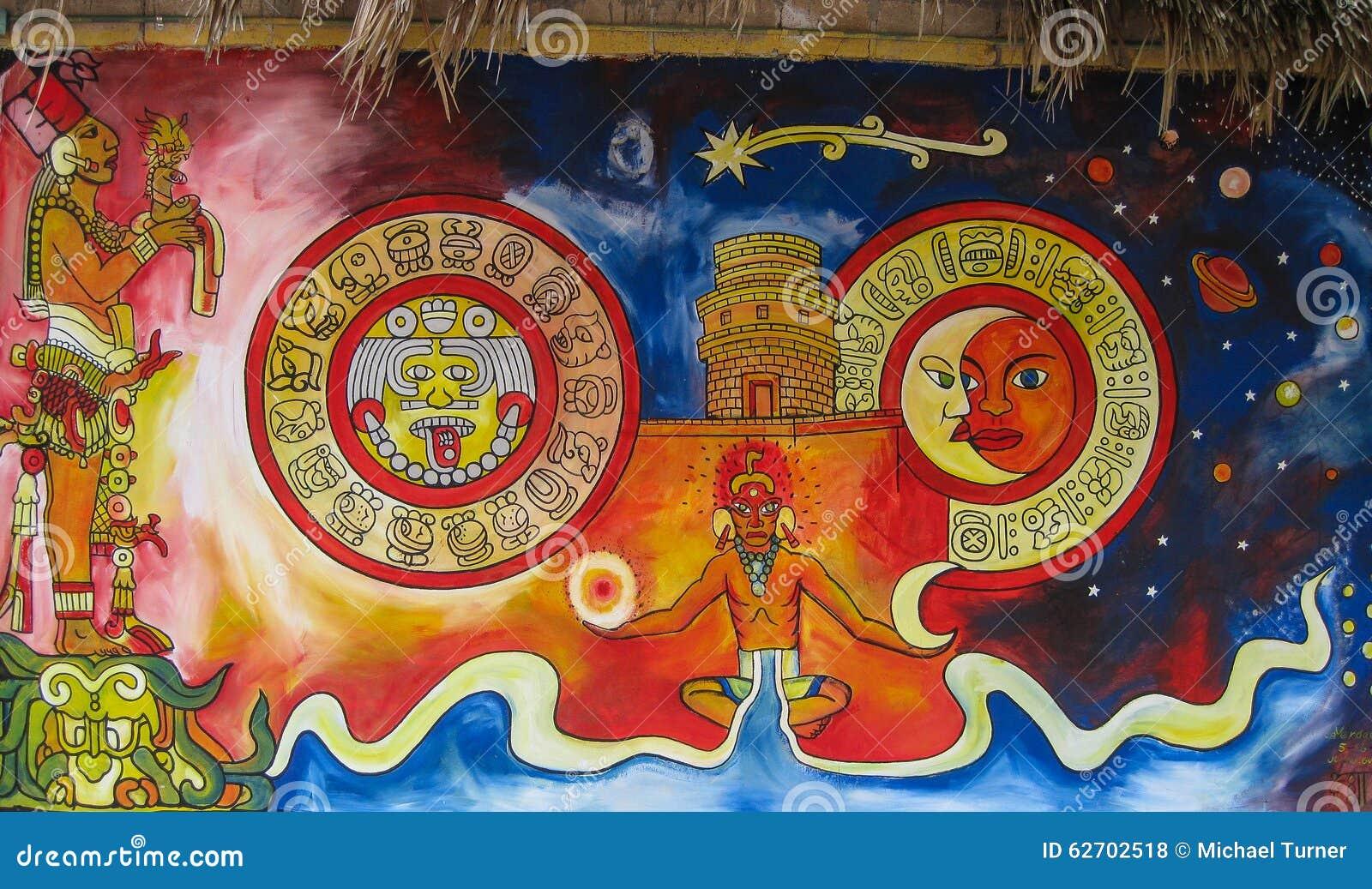 Murale Maya Fotografia Stock Editoriale Immagine Di Cancellare 62702518