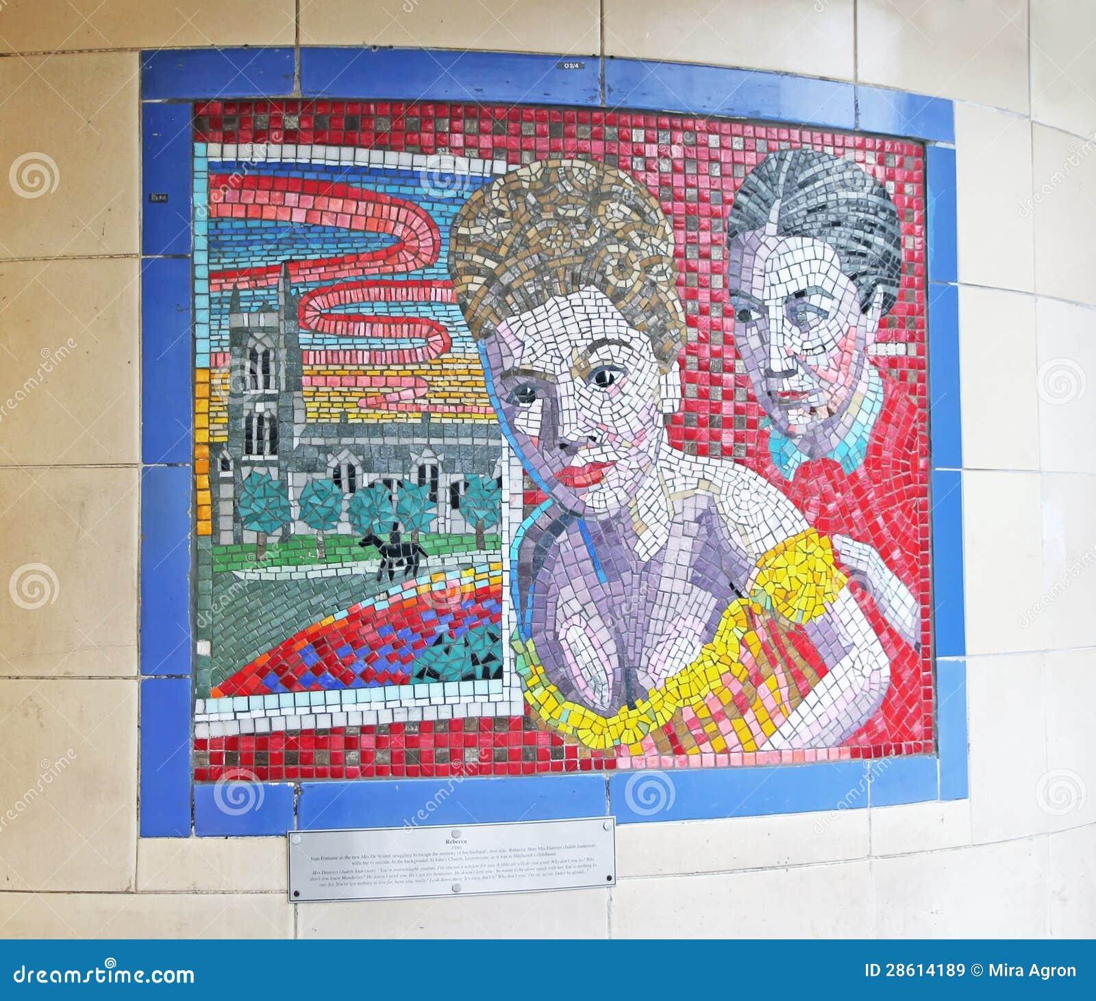 Murales de hitchcock en londres imagen de archivo for El mural pelicula