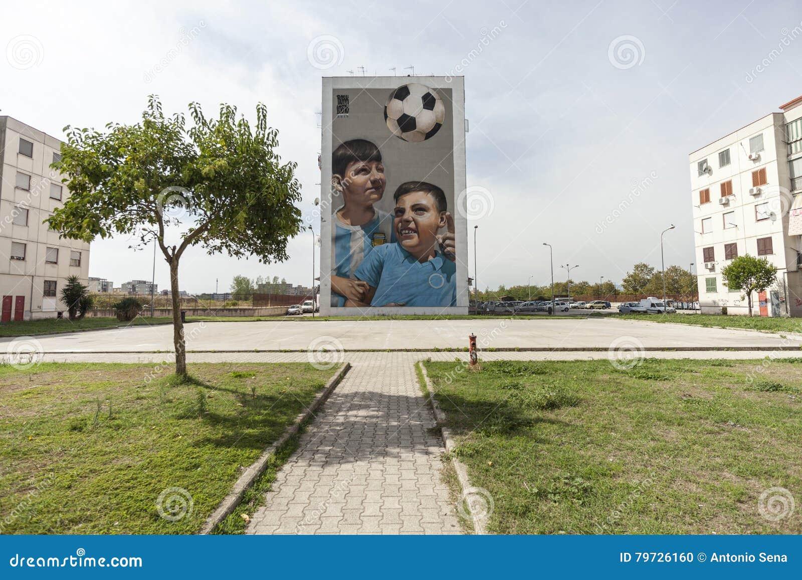 Murales del arte de la calle en Nápoles
