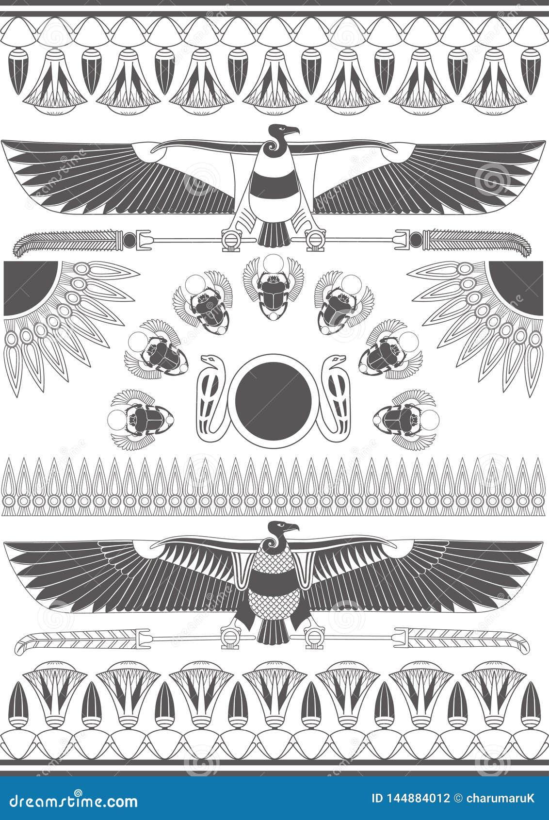 Murales, esculturas y modelos egipcios antiguos Fondo de Egipto antiguo monocrom?tico