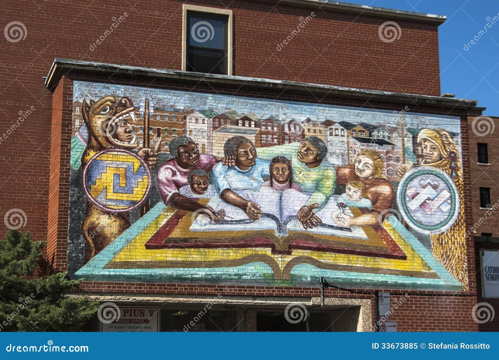 murals in chicago editorial image image 33673885 building chicago murals