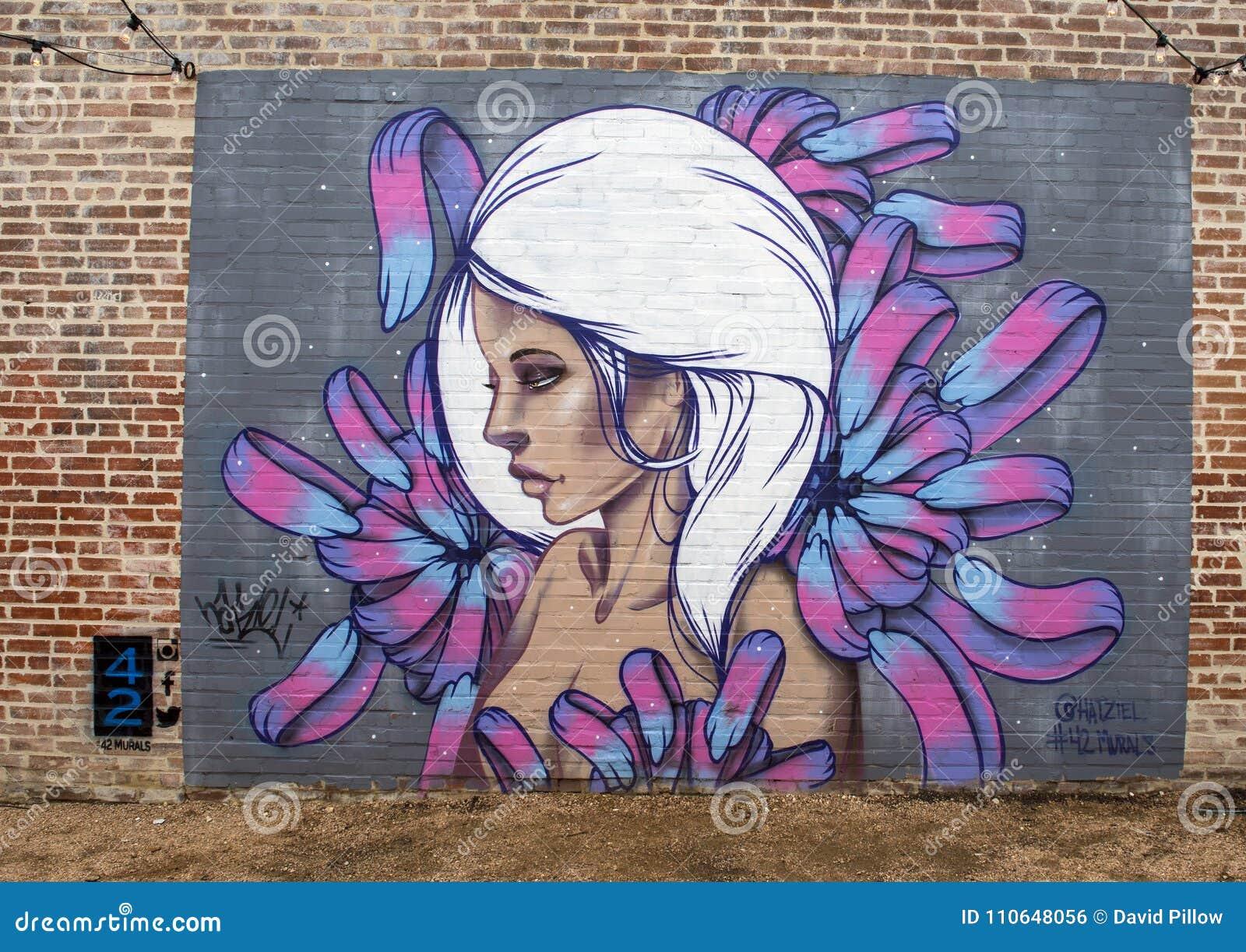 42 Murals Project Wall Mural By Hatziel Flores Deep Ellum Texas