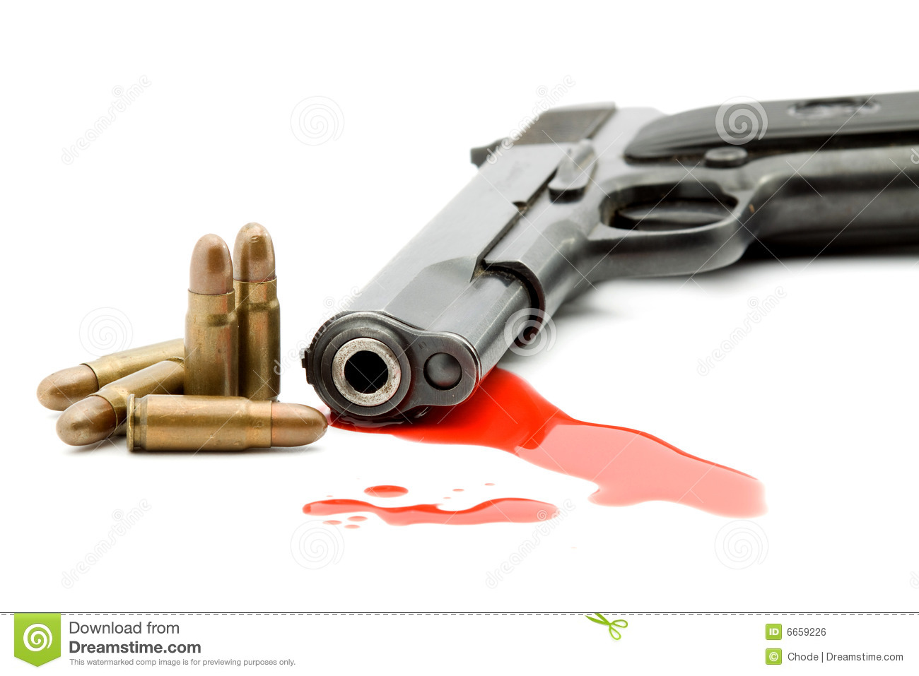 Murder Concept - Gun And Blood Royalty Free Stock Image ...