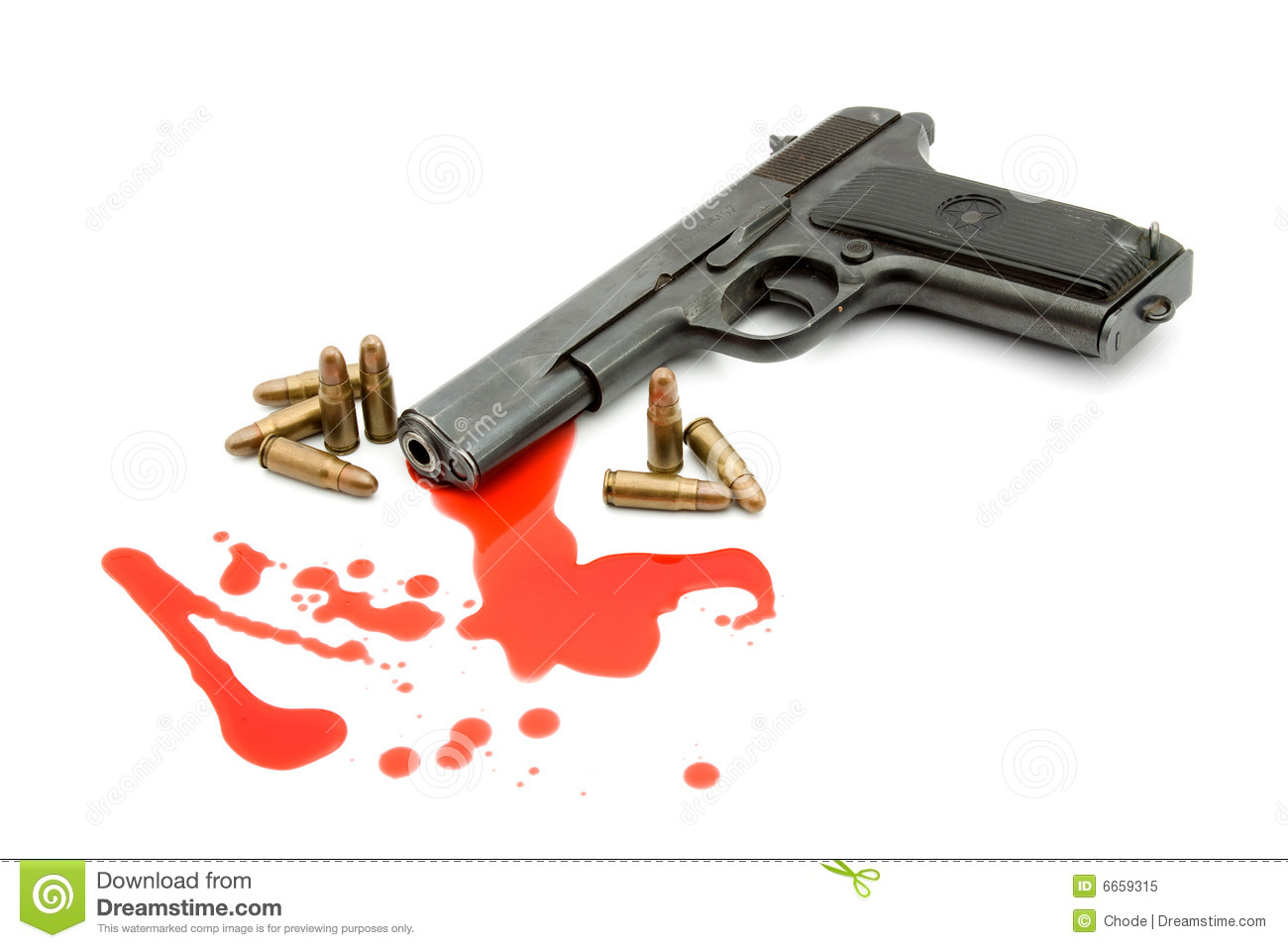 Murder Concept - Gun And Blood Royalty Free Stock Photo ...