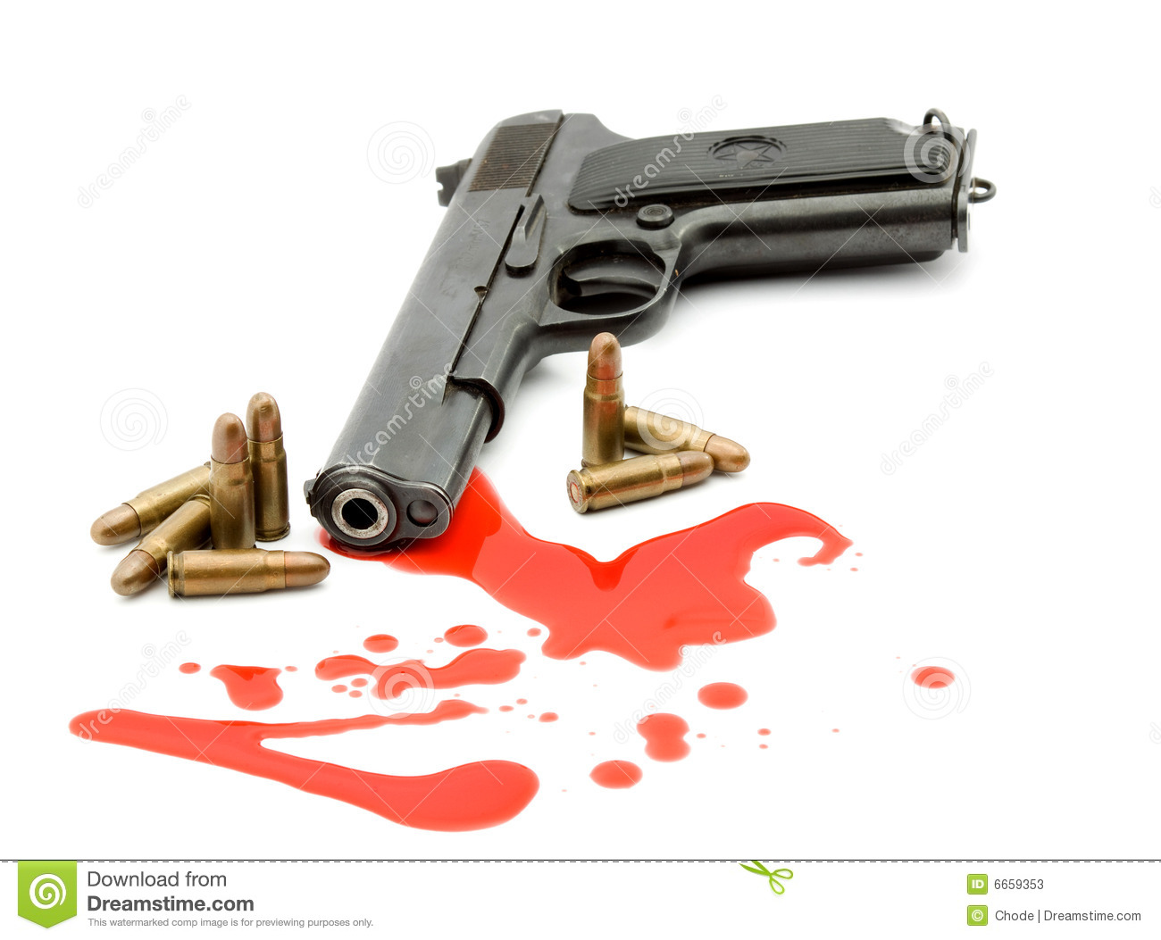 Murder Concept - Gun And Blood Stock Photos - Image: 6659353