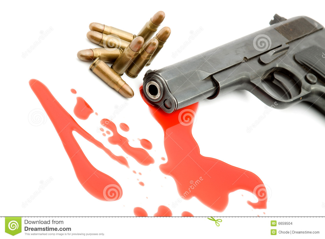 Murder Concept - Gun And Blood Stock Images - Image: 6659504