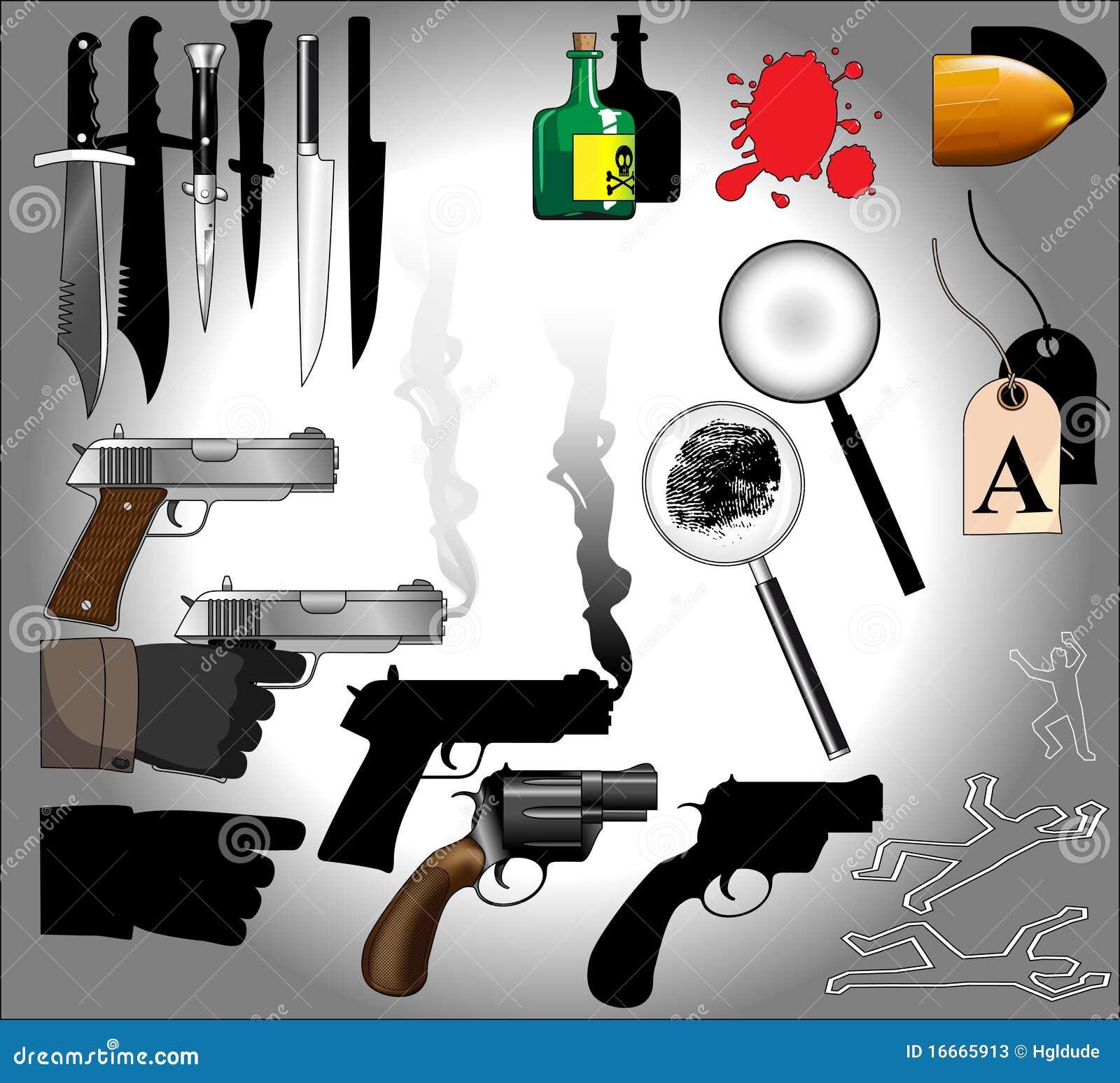 Mystery Elements: Murder Mystery Elements Stock Photos