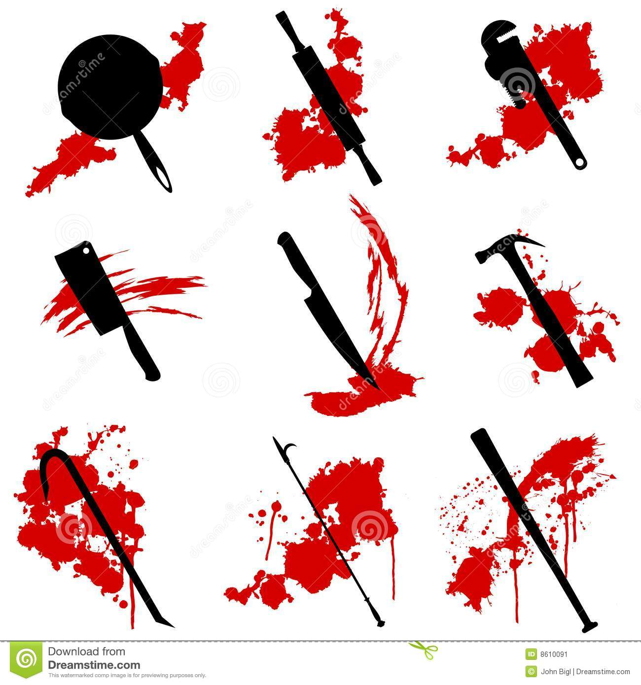 Murder Weapons Stock Image Image 8610091