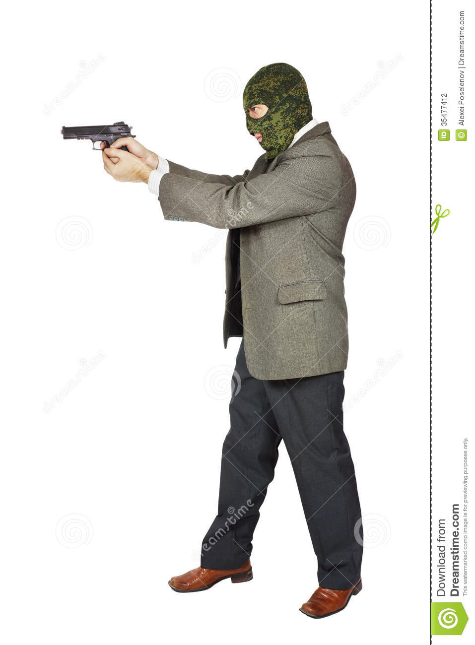 Murderer Shooting With His Gun Stock Photography - Image ...