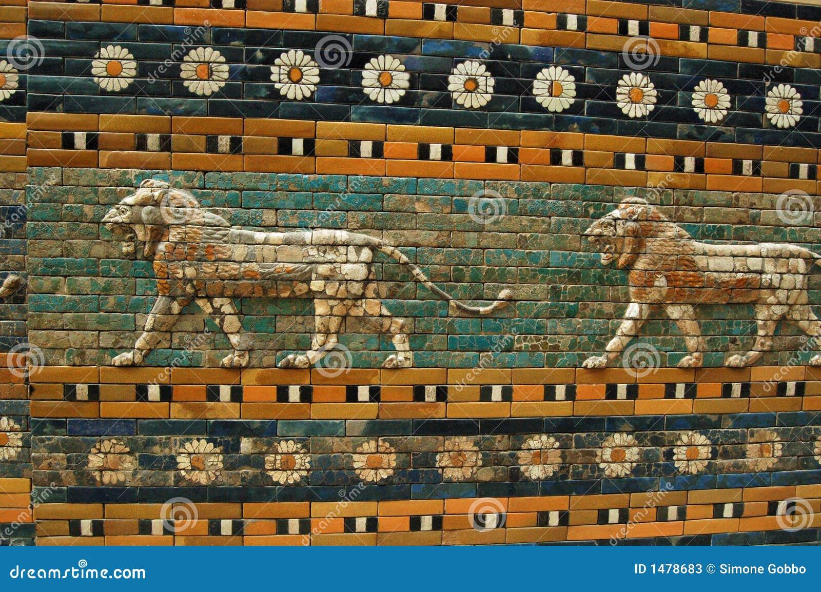 Muren Van Babylon Stock Foto's - Afbeelding: 1478683